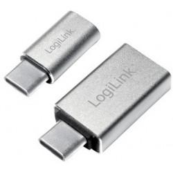 Logilink kit d'adaptateur usb-c, 2 pièces, argent