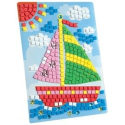 """Conté mosaique de caoutchouc de mousse """"bateau"""", 405 pièces"""