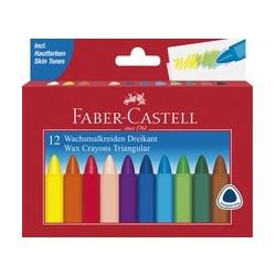 Faber-castell craie à la cire triangulaire, étui en carton