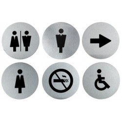 "Securit pictrogramme ""door signs"" kit de 6, acier inoxydable"