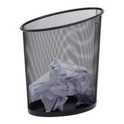 Alba corbeille à papier mesh, en fil d'acier, 18 litres,noir