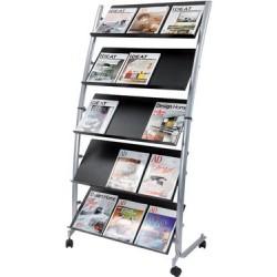 Alba porte-brochures mobile, grand, largeur: 820 mm