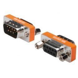 Assmann null-modem-adapter, 9 pol sub-d, stecker - kupplung