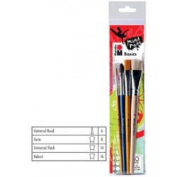 "Marabu kit de pinceaux ""basics"", application de base"