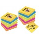 Post-it bloc-notes adhésifs super sticky notes, 76 x 76 mm,