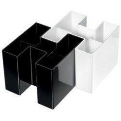 Han multipot à stylos bravo, 5 compartiments, blanc