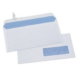 Gpv enveloppes blanches, dl, 80 g/m2, avec fenêtre