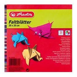 Herlitz papier origami, 200 x 200 mm, couleurs assorties