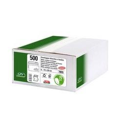 Gpv enveloppes, format dl, 110 x 220 mm, blanc, avec fenêtre