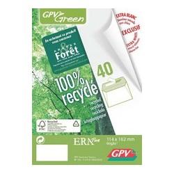 """Gpv enveloppes """"erapure"""" dl 110 x 220 mm, sans fenêtre"""