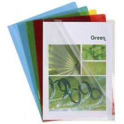 Exacompta pochette, a4, pvc 0,13 mm, couleurs assorties