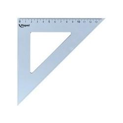 Maped equerre cristal 45 degrés, hypoténuse : 210 mm,