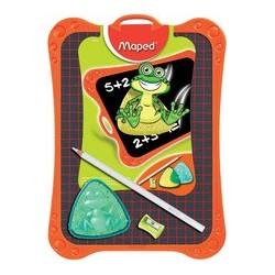 Maped ardoise en plastique, uni/quadrillé,accessoires inclus
