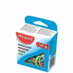 Maped gummiringe im karton, 50 g, sortiert