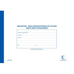 "Elve registre ""conventions de stage"", 210 x 297 mm, 48 pages"