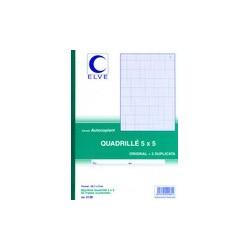 Elve manifold quadrillé (5/5), 140 x 105 mm, 50 feuilles,