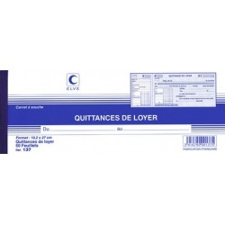 "Elve carnet ""quittances de loyer"""