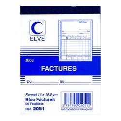 """Elve livre de formulaire """"bloc facture"""", 140 x 105 mm"""