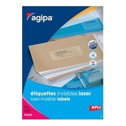 Agipa étiquettes invisibles, 210 x 297 mm, transparentes
