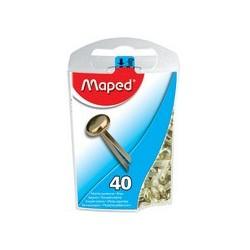 Maped attaches parisiennes têtes rondes,en laiton,boîte
