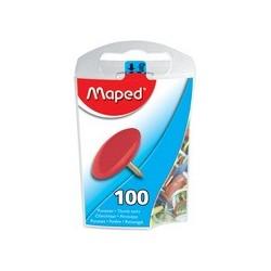 Maped punaises, laiton, contenu: 100 pièces