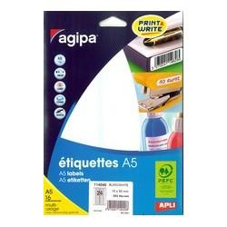 Agipa étiquettes multi-usage, 10 x 22 mm, blanc