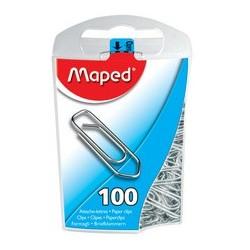 Maped trombones, en métal, 25 mm, contenu: 100 pièces