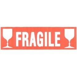 """Agipa étiquette de signalisation """"fragile"""", écriture blanche"""