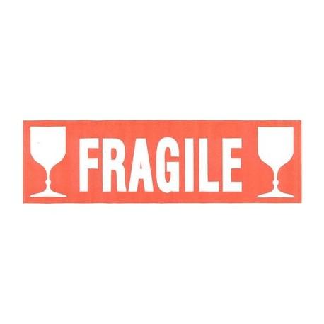 Agipa Etiquette De Signalisation Fragile Ecriture Blanche