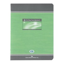 Conquerant sept cahier d'exercices, nf08, seyes, 170 x 220mm