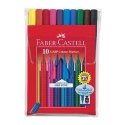 Faber-castell stylo feutre grip colour marker, étui de 10