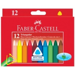 Faber-castel craies de cire, triangulaire, etui en carton