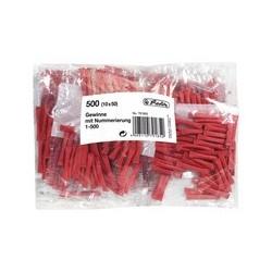 Herlitz billets-gagnants, numérotés de 1-500, couleur: rouge