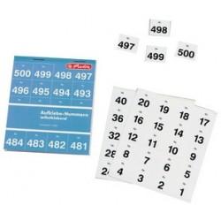 Herlitz numéros autocollants, autocollants, numérotés de