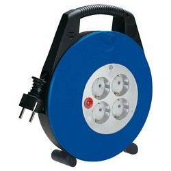 Brennenstuhl kabelbox vario-line, schwarz/blau, kabel: 10 m