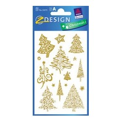 "Avery zweckform zdesign stickers de noel ""arbres"""