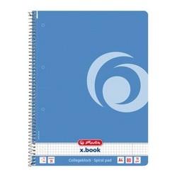 "Herlitz cahier à spirales color-blocking ""baltic blue"", a4"