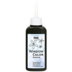 Kreul window color peinture de contours, or-scintillant,80ml