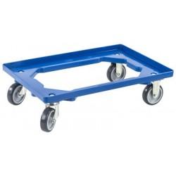 Allit chariot de transport profiplus euroroll os 600, bleu