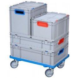 Allit chariot de transport profiplus euroroll ob 600, bleu (LOT DE 2)