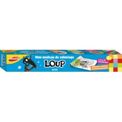 Joustra rouleau de coloriage loup, (l)300 mm x (l)3,6 m