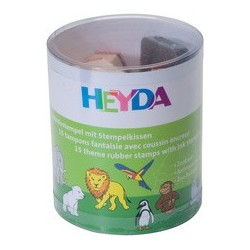 "Heyda kit de timbres à motifs ""aminaux de zoo"", en boite"