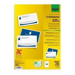 Sigel cartes de visite 3c, 85 x 55 mm, 250 g/m2, extra blanc