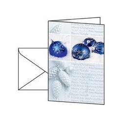Sigel carte de noel seasons greetings, a6 (a5), 220 g/m2