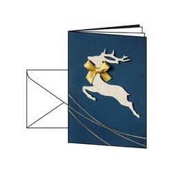 Sigel carte de noël santa's reindeer, a6 (a5), 250 g/m2