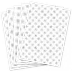Folia carton à broder, 175 x 245 mm, blanc
