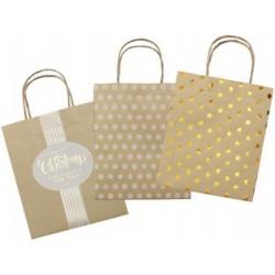 "Folia sacs en papier ""noël"", papier kraft, petit"