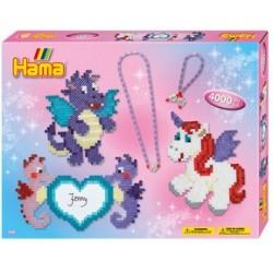 """Hama perles à repasser midi """"ami des dragons"""",coffret cadeau"""