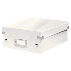Leitz boîte de rangement click & store wow, grand, blanc