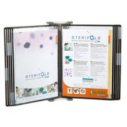 Tarifold poche à pivots sterifold inox, a4, noir (LOT DE 10)